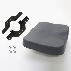Seat Top with Frame and Screws Gray—Model C, D, E